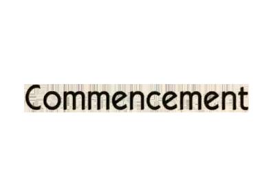 Commencement (コメンスメント)